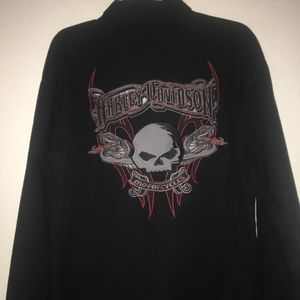 Harley-Davidson Embroidered Long Sleeve Shirt
